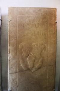 płyty nagrobne w Biertan, ta z 1567 !!!