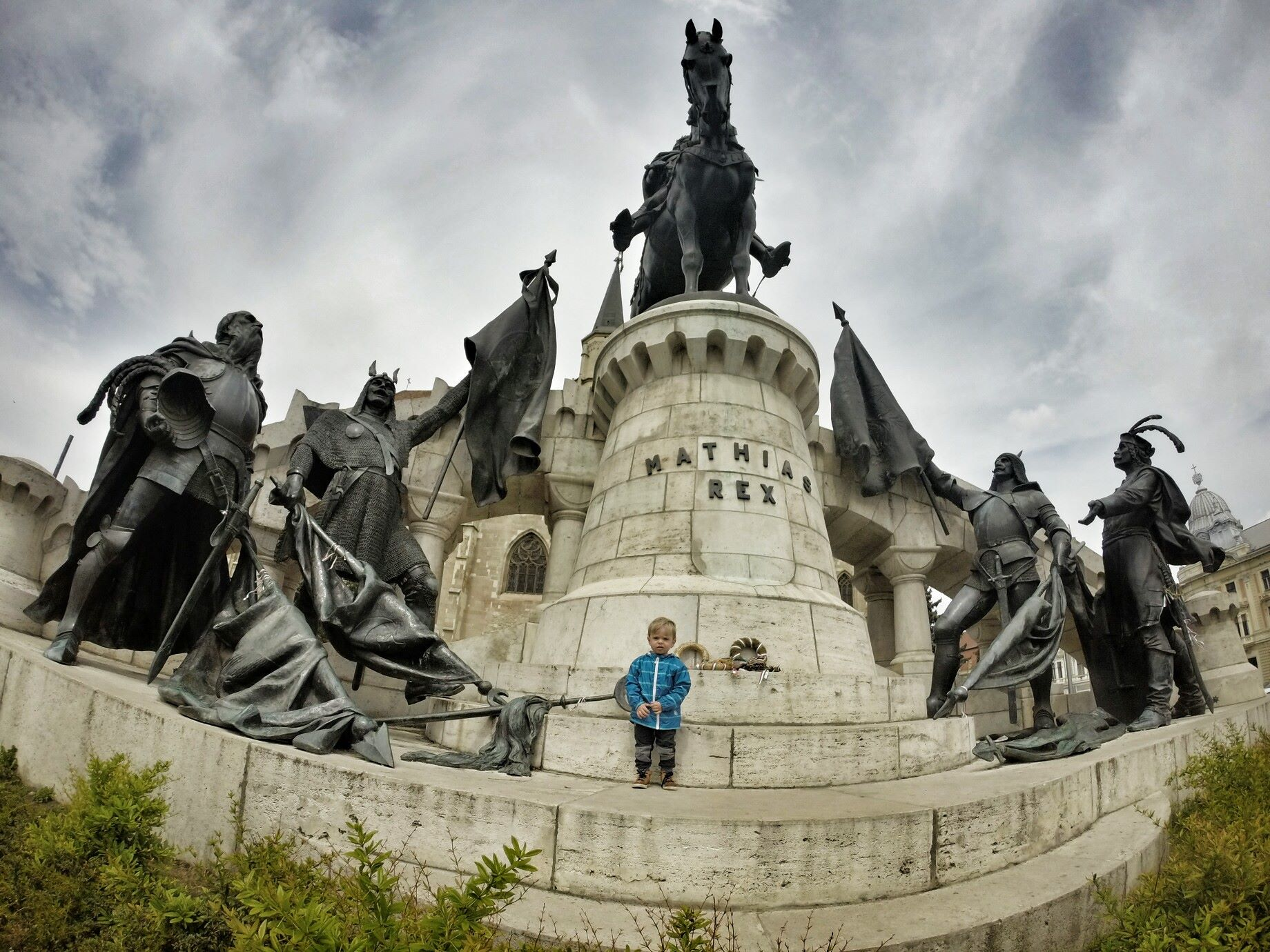 Kluż-Napoka, pomnik Macieja Korwina