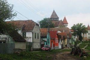wieś saska Iacobeni, po opuszczeniu przez niemców w latach 90