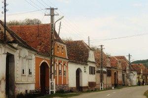 typowa saska zabudowa wsi