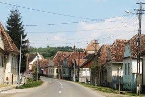 przykład saskiej zabudowy wsi