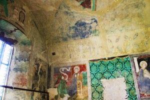 Kościół obronny Biertan, wnętrze mauzoleum zamknięte dla zwiedzających (jedynie przez kratki)