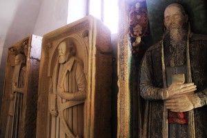 Płyty nagrobne w mini muzeum w Biertan, XV-XVI w